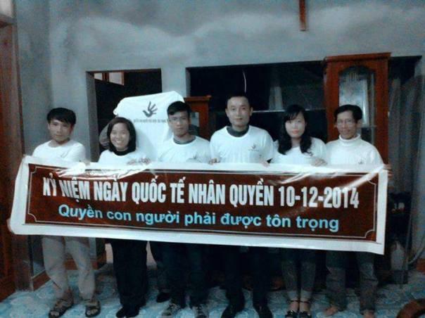 Tham gia vận động Nhân quyền cho Việt Nam nhân ngày quốc tế nhân quyền