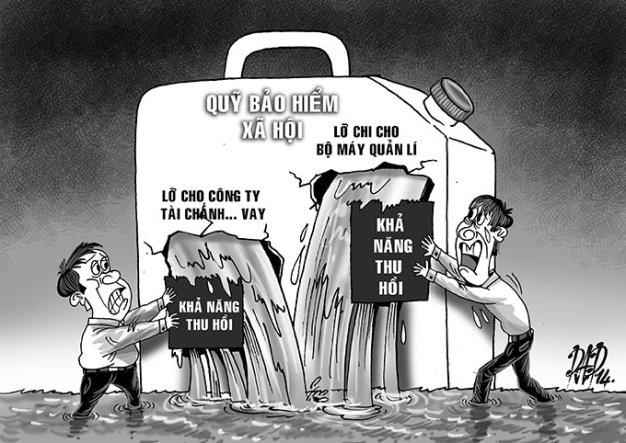 Những bất cập về quy định mới của quỹ bảo hiểm xã hội - Ảnh biếm họa (Nguồn: Internet)