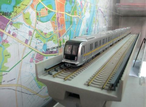 Chuẩn bị mua lô tàu Trung Quốc cho đường sắt trên cao Cát Linh - Hà Đông - Mô hình đoàn tàu đường sắt Cát Linh - Hà Đông