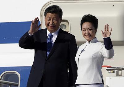 Nhà lãnh đạo Tập Cận Bình và phu nhân đã có chuyến viếng thăm nước Mỹ đầu tiên trong vai trò Chủ tịch Trung Quốc. Ảnh: Elaine Thompson