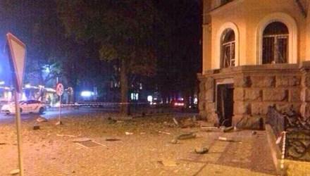 Ảnh hiện trường vụ nổ tại Odessa. Ảnh: Twitter