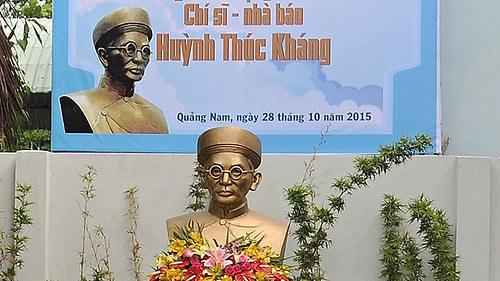 Tượng cụ Huỳnh Thúc Kháng (Ảnh: thanhnien.com.vn)