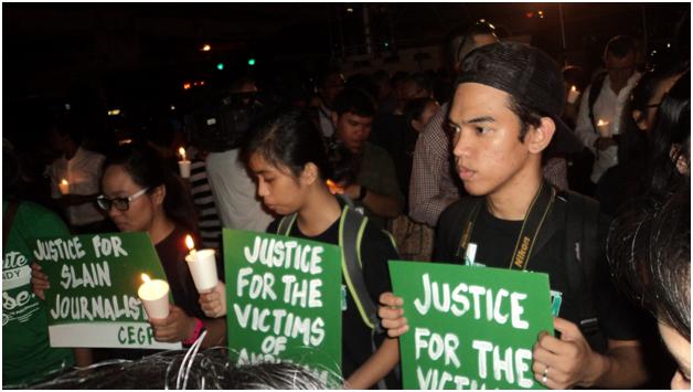 Đêm thắp nến tưởng niệm các nhà báo bị ám sát