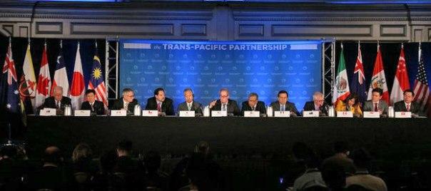 Đại diện 12 nước tham gia đàm phán TPP tại Atlanta, Mỹ ngày 5/10/2015