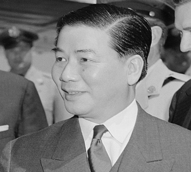 Tổng thống Ngô Đình Diệm tại Washington DC tháng 8 năm 1957.