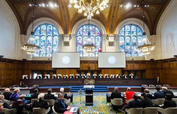 Tòa quốc tế The Hague trong một phiên xử ngày 5/10/2015 (ảnh minh họa).AFP PHOTO/INTERNATIONAL COURT OF JUSTICE/FRANK VAN BEEK