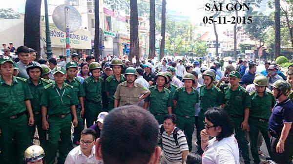 Chính quyền đàn áp biểu tình phản đối Tập Cận Bình sang thăm Việt Nam 05/11/2015