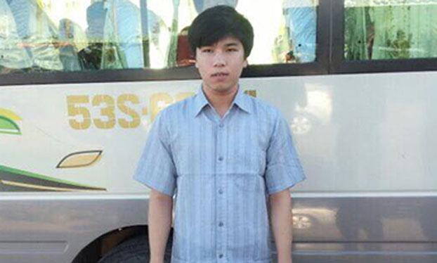 Anh Phạm Minh Vũ vừa ra tù.