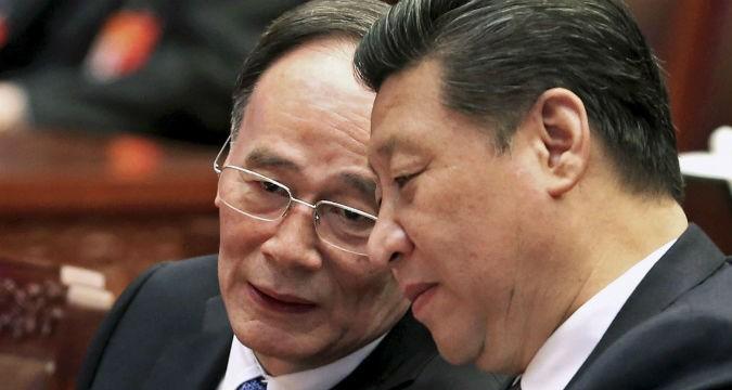Ông Tập Cận Bình và ông Vương Kỳ Sơn đều công khai thừa nhận ĐCSTQ sắp sụp đổ (Ảnh: Internet)