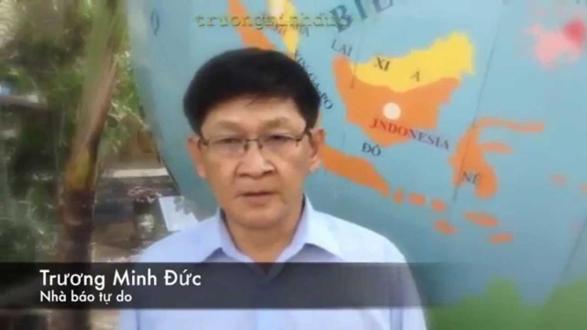 Nhà báo tự do Trương Minh Đức - hội viên hội Anh Em Dân Chủ và Lao Động Việt