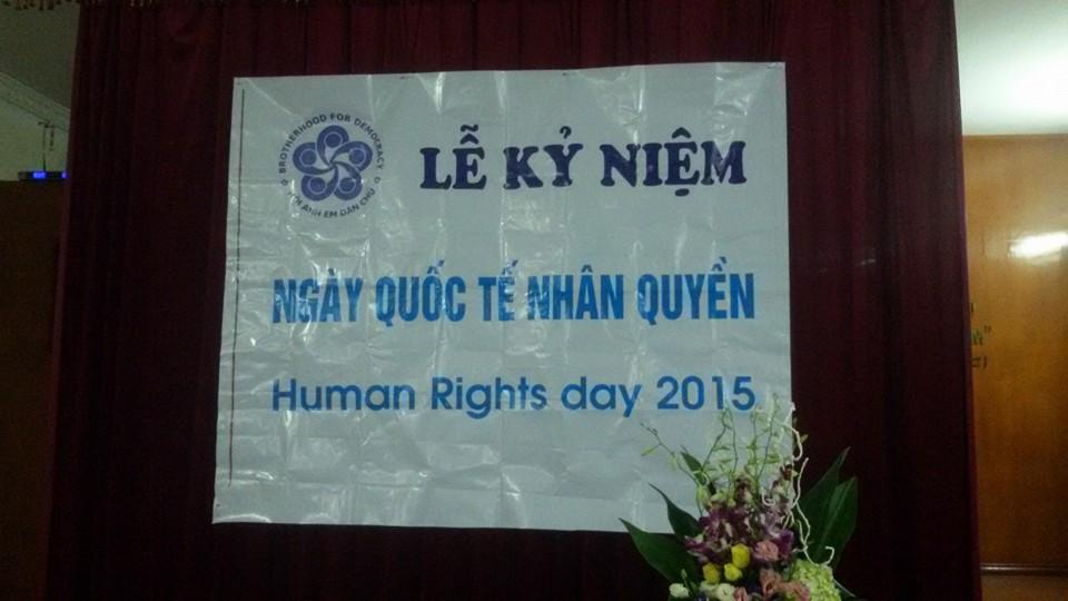 Buổi lễ kỷ niệm ngày quốc tế nhân quyền tại Hà Nội 01