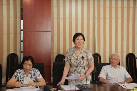 Bà Trịnh Thị Minh Đức, PGS-TS ở đại học quốc gia Hà Nội.