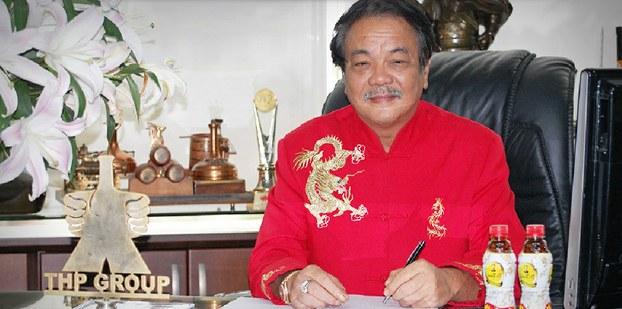 Hình ảnh ông Trần Qúi Thanh - Tổng Giám Đốc Tân Hiệp Phát được đăng tải trên website tập đoàn này
