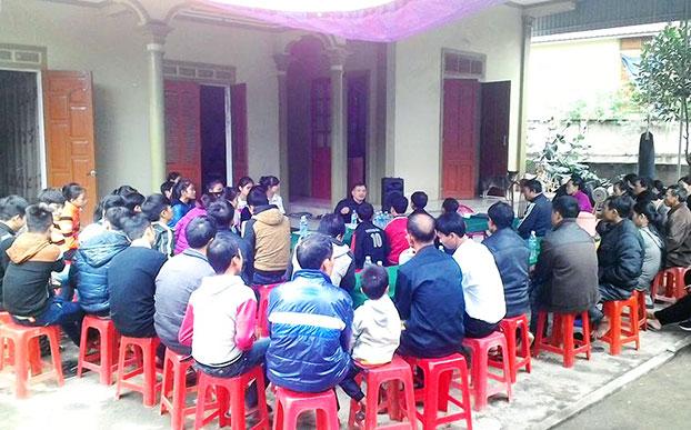 Hình ảnh buổi Thảo luận về Nhân quyền tại Nam Đàn, Nghệ An hôm 6/12/2015.