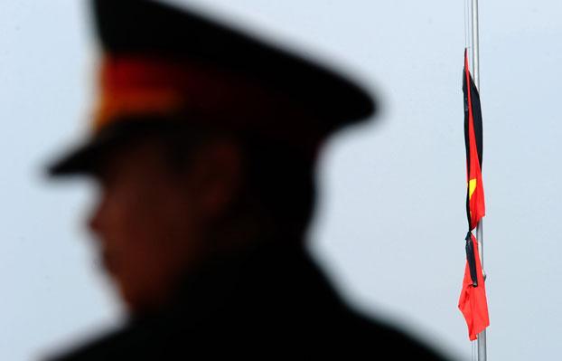 Ảnh minh họa chụp một sĩ quan QĐNDVN tại Hà Nội hôm 11/10/2013.