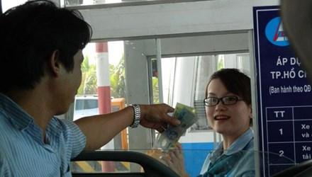 Trạm Long Phước thu phí hoàn vốn đường cao tốc TPHCM - Long Thành - Dầu Giây. Ảnh: H.T.