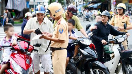 Cảnh sát giao thông được xử phạt không cần lập biên bản - Ảnh minh họa.