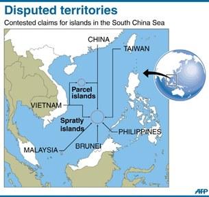 Bản đồ vùng đảo đang tranh chấp ở Biển Đông