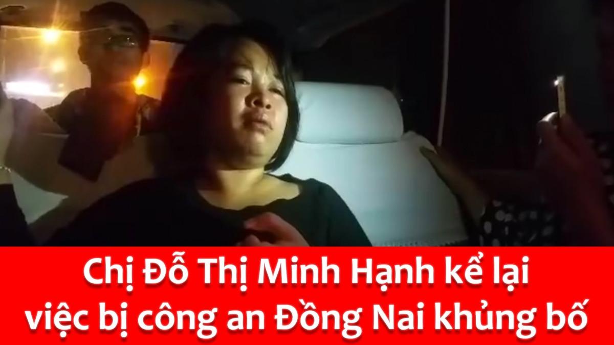 Chị Đỗ Thị Minh Hạnh kể lại việc bị công an đánh