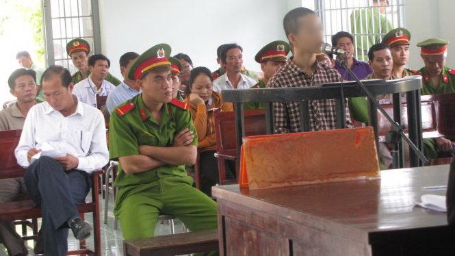 Nguyễn Mai Trung Tuấn tại phiên tòa sơ thẩm - Ảnh: An Long
