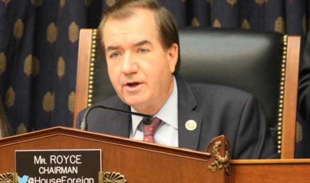 Chủ tịch Ed Royce phát biểu chấp thuận Nghị quyết của Ủy ban Đối ngoại nhằm lên án tội ác mổ cướp nội tạng đang diễn ra ở Trung Quốc Đại Lục, đặc biệt là vấn đề mổ cướp tạng học viên Pháp Luân Công và các tù nhân lương tâm khác.