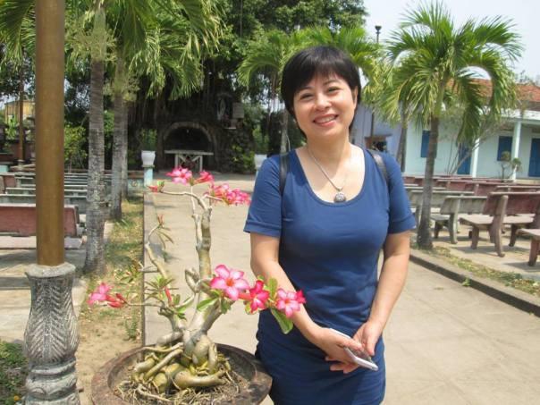 Chị Nguyễn Thị Thúy Hạnh, nạn nhân quấy rối qua điện thoại của ngành công an và ủy ban mặt trận tổ quốc.