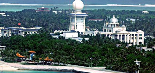 Đảo Phú Lâm trong quần đảo Hoàng Sa của Việt Nam đang bị Trung Quốc chiếm đóng - Ảnh: AFP