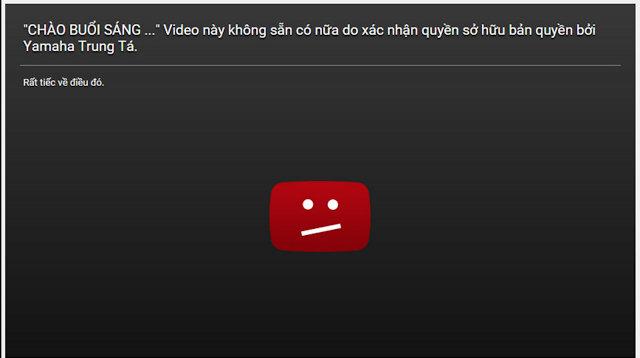 Một chương trình của VTV đã bị xóa vì vi phạm bản quyền của kênh Yamaha Trung Tá.
