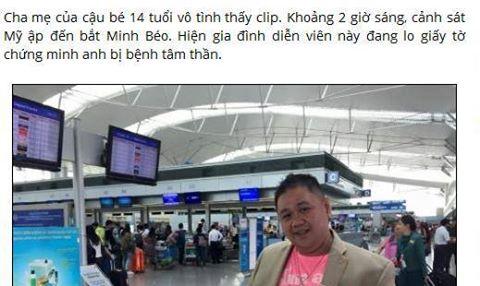 Diễn viên hài Minh Béo