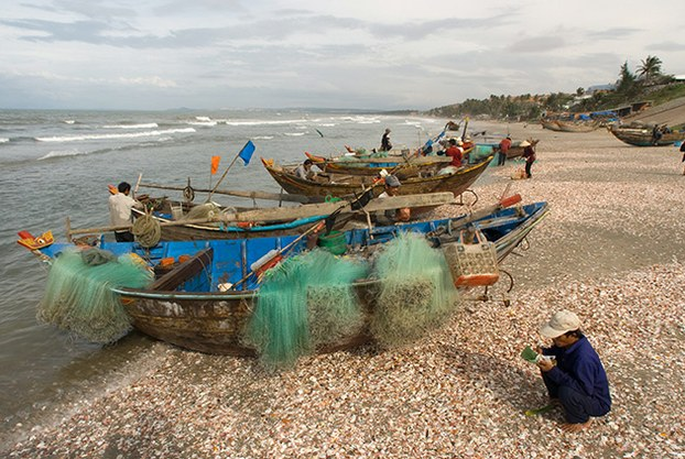 Ngư dân ở Bãi biển Mũi Né, Việt Nam. (minh họa)
