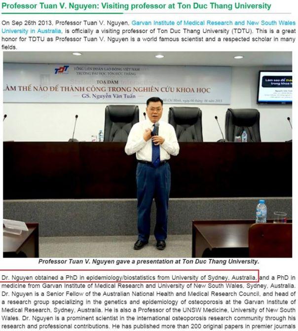 Nguyễn Văn Tuấn mạo xưng giáo sư.