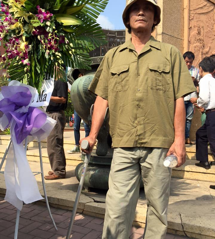 Cựu chiến binh biên giới Tây Nam Trương Tất Vĩnh. Ảnh: Huy Phan