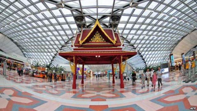 Phi trường quốc tế Suvarnabhumi ở Bangkok, Thái Lan.
