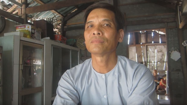 Ông Lê Văn Sóc, Phó hội trưởng Trung ương Phật giáo Hòa Hảo thuần túy.