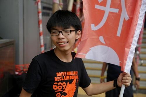 Joshua Wong, thủ lĩnh sinh viên từng đi đầu các cuộc biểu tình trong Phong trào Ô dù làm dậy sóng Hong Kong năm 2014. Ảnh: AFP