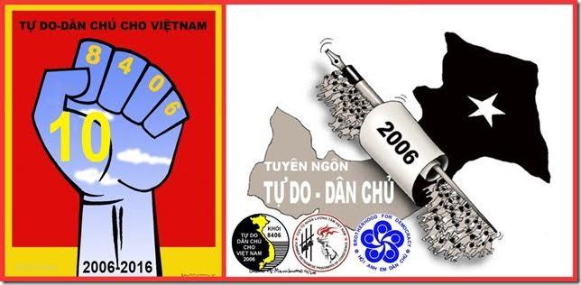 Tuyên bố chung nhân kỷ niệm 10 năm tuyên ngôn tự do dân chủ cho Việt Nam (tuyên ngôn 8406)