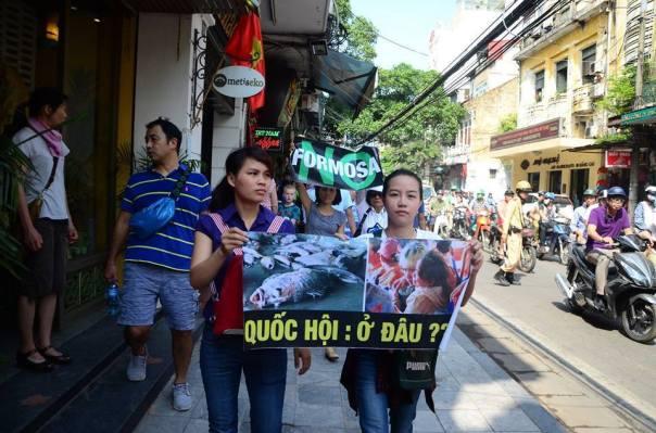 Biểu tình tại Hà Nội ngày 05/06/2016