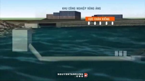 Formosa lắp đặt ống xả thải ngầm khổng lồ ra biển Vũng Áng chưa được các cơ quan chức năng làm rõ
