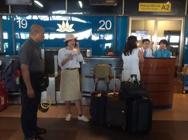 Bà Su Chih-fen bị chặn ở Nội Bài. Ảnh: Liberty Times Net