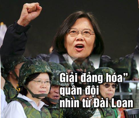 Nữ Tổng Thống Đài Loan Thái Anh Văn chỉ huy cuộc tập trận thường niên của quân đội Đài Loan.