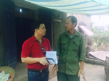 Ông Lê Văn Nông trao đổi với phóng viên Dân trí.