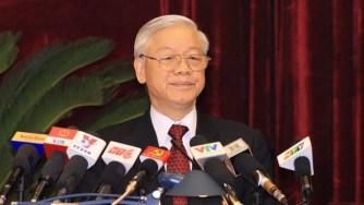 Ông Nguyễn Phú Trọng phát biểu tại HNTU 4