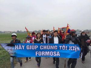 Giáo xứ Song Ngọc vào Vũng Áng nộp đơn kiện Formosa