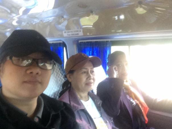 Từ trái sang phải: Nguyễn Thúy Quỳnh, Dương Thị Tân, Bùi Thị Minh Hằng.