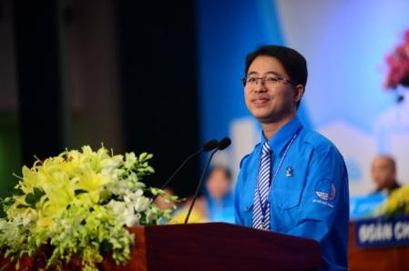 Phạm Hồng Sơn- chủ tịch hội Liên hiệp Thanh niên kiêm Phó bí thư Thành đoàn TPHCM.