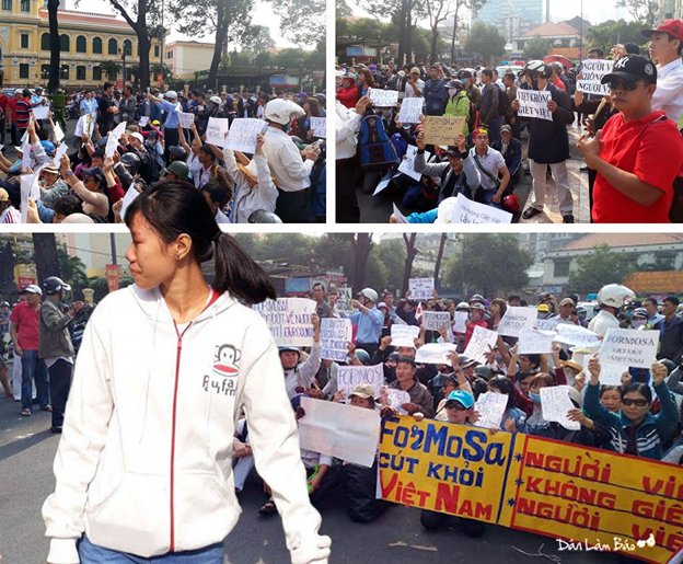 Toàn gương mặt mới trong cuộc biểu tình ngày 5/3 ở Sài Gòn. Ảnh Danlambao