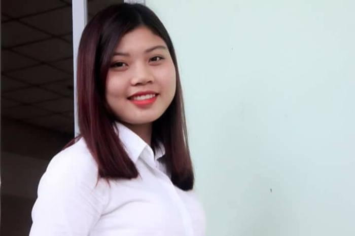Cô giáo Nguyễn Thị Trà lúc chưa bị hành hung