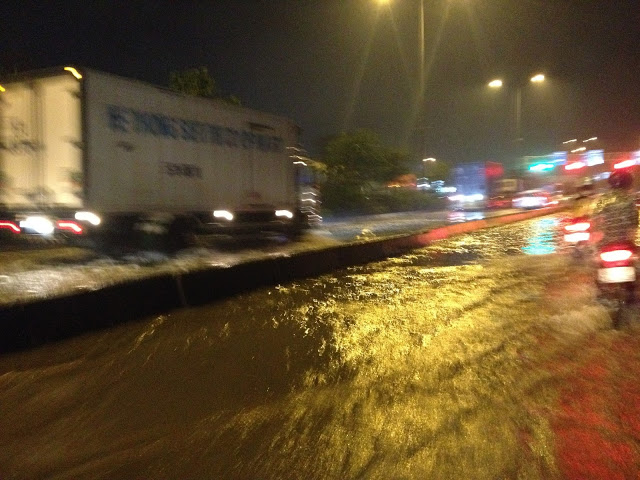 Ngập lụt ở quốc lộ 1A