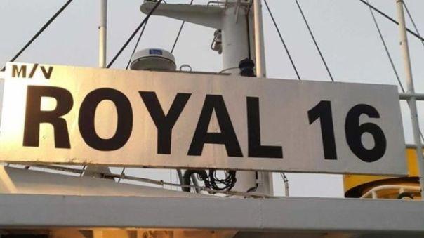 Hình ảnh lấy từ Facebook được cho là của con tàu M/V Royal 16.