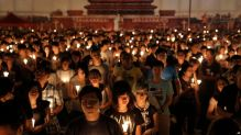 Tens of thousands of people attend a candlelight vigil at Victoria Park in Hong Kong, Saturday, June 4, 2016 to commemorate victims of the 1989 military crackdown in Beijing. China's bloody 1989 military crackdown on the Tiananmen Square pro-democracy protests was a pivotal moment in the country's political development. Despite the Communist Party's efforts to erase memories of the event, every year its anniversary triggers heightened security and surveillance on the mainland, along with furtive commemorations by a handful of activists. (AP Photo/Kin Cheung)